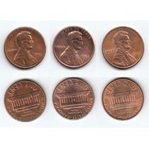 Estados Unidos, Lote 3 Monedas Diferentes 1 Cent 1984-1999