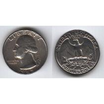 Estados Unidos, Moneda De ¼ Dolar De Cuproniquel, 1965--