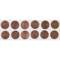 Estados Unidos, 6 Monedas Diferentes De 1 Cent 1979-2001d