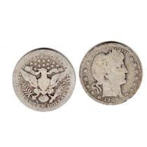 Moneda Estados Unidos 25 Centavos Plata Año 1909 D Buena-