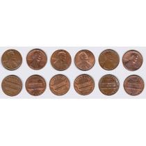 Estados Unidos, 6 Monedas Diferentes De 1 Cent, 1980-1986