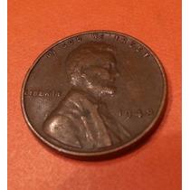 Moneda One Cent Lincoln Centavo Dollar 1948 Usa