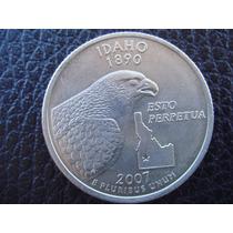 U. S. A. - Idaho, Moneda De 25 Centavos (cuarto), Año 2007