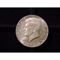 Moneda 1/2 Dolar Año 1964 Plata Eeuu Estados Unid Half Medio