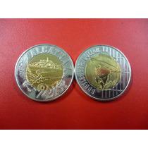 Moneda Bimetalica De Alcatraz 2013 Conmemorativa Unc