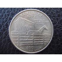 U. S. A. - Kentucky, Moneda D 25 Centavos (cuarto), Año 2001