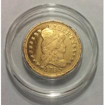 Moneda Ee Uu 5 Dólares 1795. Media Águila. Copia Bañada Oro