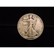 Moneda 1/2 Dolar Liberty 1937 D Eeuu 12,5 Plata 900 Half