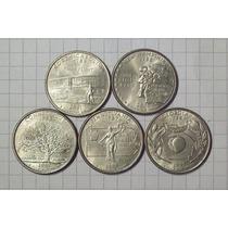 Estados Unidos 5 Monedas ¼ Dólar Conmemorativo Hay Variedad