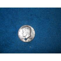 Moneda De Medio Dolar De 1968 Con Agujero Para Collar