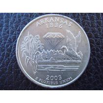 U. S. A. - Arkansas, Moneda D 25 Centavos (cuarto) Año 2003