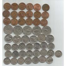 Estados Unidos Lote 51 De Monedas De 1,5,10 Y 25 Centavos