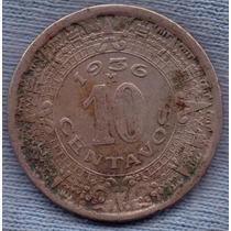 Mexico 10 Centavos 1936 M * Escudo * Aguila *