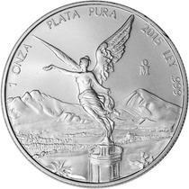 Moneda De Plata Pura Libertad 2015 Mexico 1 Oz