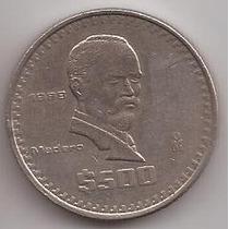 Mexico Moneda De 500 Pesos Año 1988 !!