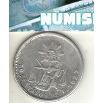 Mexico Escasos 50 Centavos De Plata 1875 R Km 407.5 - Xf-
