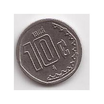 Mexico Moneda De 10 Centavos Año 1993 !!