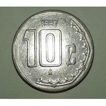 Moneda Mexico 10 Centavos 1997 Caballito
