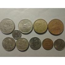 Lote X 10 Monedas De Mexico, Estado Bueno Y Muy Bueno.
