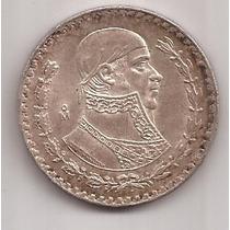 Mexico 1 Peso Año 1962 Gran Moneda De Plata Baja 16 Gramos