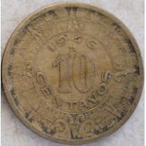 Mexico 10 Centavos 1946 M * Escudo * Aguila *