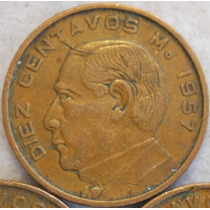 Mexico 10 Centavos 1957 * Benito Juarez *