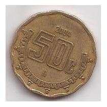 Mexico Moneda De 50 Centavos Año 2004 !!