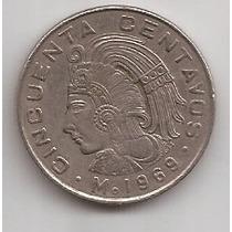 Mexico Moneda De 50 Centavos Año 1969 !!
