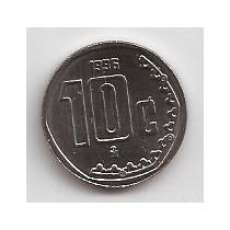 Mexico Moneda De 10 Centavos Año 1996 !!