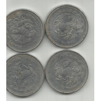 Mexico Lote De 4 Monedas De Un Peso