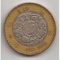 Mexico Moneda Bimetalica 10 Pesos Año 2000 !!!