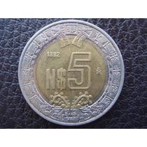 México - Moneda Bimetalica De 5 Nuevos Pesos, Año 1992 - M/b