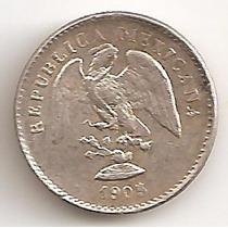 Mexico Republica, 5 Centavos, 1905 Mo M. Plata. Sin Circular