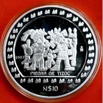Mèxico 10 Nuevos Pesos 1993 -5 Onzas Plata 0,999 ¡¡proof!!