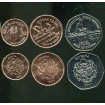 Guyana Set De 3 Monedas Años Varios