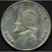 Panama - 1 Balboa Año: 1947 Plata - Espectacular
