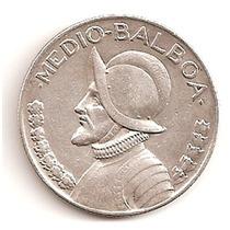 Moneda Panama 1/2 Balboa 1933