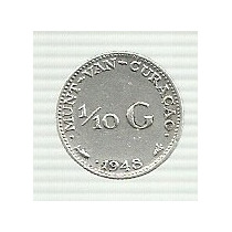 Curacao 1/10 Gulden 1948 Plata