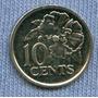Trinidad Y Tobago 10 Cents 2006 * Flor Hibiscus *