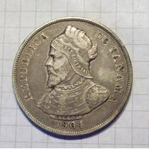 Panama 50 Centavos 1904 Plata Linda Y Rara