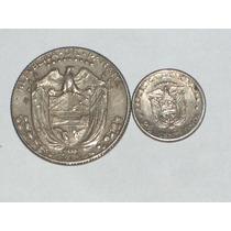 2 Monedas De Panamá..