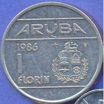 Aruba 1 Florin 1986 * Antillas Holandesas *