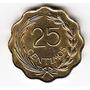 Paraguay, Moneda De 25 Centavos De 1953 - Ondulada