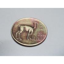 Moneda De Peru 1/2 Sol De Oro Año 1970