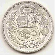 Moneda De Peru Un Sol De Oro Con Baño De Plata Año1948