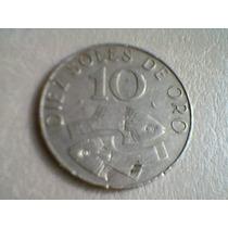 Moneda De Diez Soles De Oro. Comprada En Perú.
