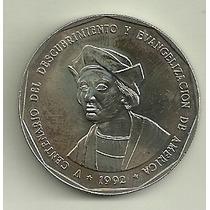 Moneda Dominicana 1 Peso Año 1992 Colon Desc. America