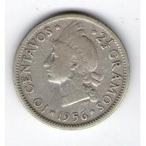 Argentvs * Republica Dominicana Moneda De 10 Centavos 1956