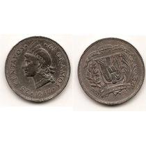 Moneda Republica Dominicana 25 Centavos Año1967 Km#20a.1