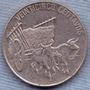 Republica Dominicana 25 Centavos 1989 * Bueyes Con Carreta *
